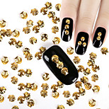 Gold Color Shell Design 3D Charms Nail Art Copper Rivet Studs Glitter Rhinestones Decorations For Nails