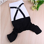 Dog Coat Dog Clothes Casual/Daily Solid Black/White