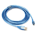 USB 2.0 Cable, USB 2.0 to Mini USB Cable Male - Male 3.0m(10Ft)