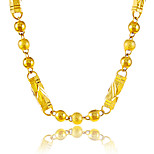 Luxury 24K Gold Plated Chain Necklace Hip Pop Punk Party Birthday Fashion Jewelry Gift