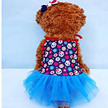 Dog Tuxedo Dog Clothes Casual/Daily Solid Blue Ruby