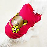 Собака Жилет Одежда для собак На каждый день Медведи Желтый Пурпурный Красный Синий