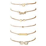 Women's Men's Chain Bracelet Bangles Handmade Fashion Hip-Hop Rock Metal Alloy Gold Plated Geometric Irregular Jewelry ForDailywear Date