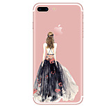 Case For  iPhone 7 7 Plus Sexy Lady Pattern TPU Soft Back Cover  For iPhone 6 Plus 6s Plus iPhone 5 SE 5s 5C 4s