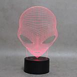 Forma marciana 3d luz llevada luz de la noche para el cabrito interruptor luz usb cargador lámparas de mesa como además lámpara lámpara de