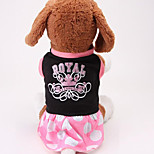 Dog Dress Dog Clothes Casual/Daily Letter & Number Blushing Pink Yellow Black