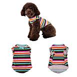 Собака Жилет Одежда для собак На каждый день Полоски Радужный