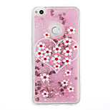 For Huawei P9 Lite P8 Lite Case Cover Flowers Pattern Flash Powder Quicksand TPU Material Phone Case P8 Lite (2017)