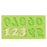 Cake Decoration Tools Silicone Number Mold Fondant Mold for Chocolate Fimo Clay