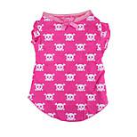 Собака Футболка Одежда для собак На каждый день Черепа Розовый