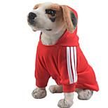 Собака Толстовки Толстовка Одежда для собак На каждый день Сплошной цвет Серый Желтый Красный Синий Розовый