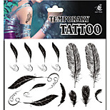 Temporary Tattoos Leg Body Animal Series 3D Waterproof Tattoos Stickers Non Toxic Glitter Large Fake Tattoo Body   Halloween Gift 22*15cm