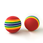 Игрушка для котов Игрушка для собак Игрушки для животных Шарообразные Мячик Nobbly Wobbly Искусственный мех