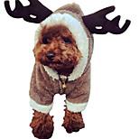Собака Костюмы Одежда для собак Сохраняет тепло Сплошной цвет Белый Кофейный Коричневый