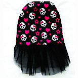 Dog Dress Dog Clothes Casual/Daily Skulls Blue Ruby Black