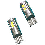 Full Aluminium Material 5W Lens Design T10 Can-bus LED Bulb White Color(2PCS)