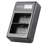 Andoer® lp-e6 перезаряжаемый светодиодный дисплей литий-ионный аккумулятор зарядное устройство 2-слотовый кабель USB-кабель для canon eos