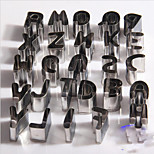 26pcs/Lot Letters Food Grade Stainless Steel Cookie Cutters Fondant Cake Decorating Tool Cookie Biscuit Cake Mold Rice Tool