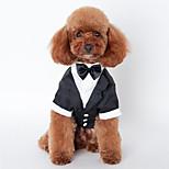 Собака смокинг Одежда для собак Свадьба Сплошной цвет