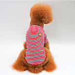 Собака Футболка Одежда для собак На каждый день Полоски Красный Зеленый Синий