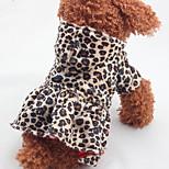 Собака Платья Одежда для собак На каждый день Леопардовый принт Цвет-леопард