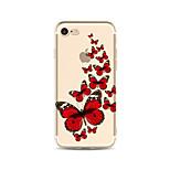 Чехол для iphone 7 плюс 7 крышка прозрачный узор задняя крышка чехол бабочка мягкая tpu для яблока iphone 6s плюс 6 плюс 6s 6 se 5s 5c 5