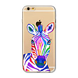 Чехол для iphone 7 плюс 7 крышка прозрачный узор задняя крышка чехол для животных зебра soft tpu для iphone 6s плюс 6 плюс 6s 6 se 5s 5c 5
