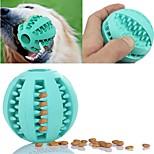 Игрушка для котов Игрушка для собак Игрушки для животных Шарообразные Жевательные игрушки ИнтерактивныйЭластичный Дозатор для еды Веселье