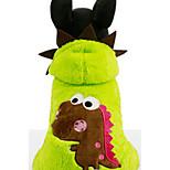 Собака Толстовки Одежда для собак На каждый день Носки детские Пурпурный Зеленый