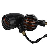 Ziqiao 2шт универсальный 12v 5w мотоцикл светодиодные передние задние указатели поворота желтые для honda для харли