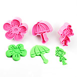 2017 New Arrival Set of 3 Rural Symbols Cake Molds Umbrella Flower Girl Cookie/Biscuit Cutter for Fondant Cake Decorating