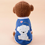 Dog Vest Dog Clothes Casual/Daily Cartoon Dark Green Blushing Pink Blue Gray Black