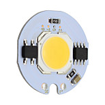 7W Round Led COB Chip Smrat IC AC220V for DIY Downlight Spotlight Ceiling Light Warm/Cool White (1 Piece)