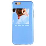 Для apple iphone 7 плюс 7 чехлов для обложки задняя крышка чехол для кота слово / фраза soft tpu 6s плюс 6 плюс 6s 6