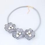 Жен. Ожерелья-бархатки В форме цветка Ткань Сплав Мода Euramerican Бижутерия Назначение Повседневные