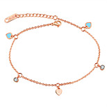 Mosaic gold rose gold chains Contracted joker inlay zircon temperament students love foot chain accessories