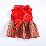 Собака Платья Одежда для собак Рождество Сердца Красный