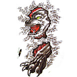 Temporary Tattoos Arm Body Animal Series 3D Waterproof Tattoos Stickers Non Toxic Glitter Large Fake Tattoo Body Jewelry  Halloween Gift 22*15cm