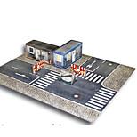 Пазлы Набор для творчества 3D пазлы Строительные блоки Игрушки своими руками Лошадь Архитектура Плотная бумага