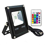 AC85-265V IP65 Waterproof 10W Remote Control Color RGB Colorful Outdoor Light LED Floodlight 1Pc