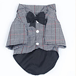 Dog Coat Dog Clothes Casual/Daily Plaid/Check Black/White Gray