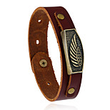 Retro Fashion Accessories Leather Bracelet With Wings