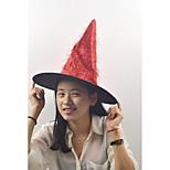 Золотистые длинные волосы колдунья шляпа цвет цвет случайный