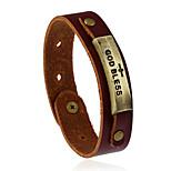 Retro New Fashion Adjustable Alloy Leather Bracelet