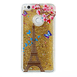 For Huawei P9 Lite P8 Lite Case Cover Tower Pattern Flash Powder Quicksand TPU Material Phone Case P8 Lite (2017)