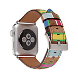 For Apple Watch Series 2 1 Wood Grain Genuine leather Watch Strap  38mm 42mm