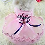 Собака Платья Одежда для собак Для вечеринки На каждый день Принцесса Синий Розовый