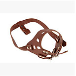 Collar Portable Adjustable Safety Solid PU Leather