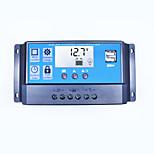 Pwm солнечный контроллер заряжателя 40a 12v 24v двойной usb 5v 2a выход солнечной панели регулятор lcd для свинцово-кислотных