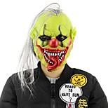 Горячая хэллоуин страшная маска с париком для волос зеленые маски для клоуна с латексными масками для макияжа для вечеринок в стиле